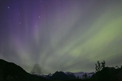 Northern Lights in August Alaska