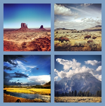 Yellowstone and Monument Valley